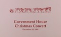 Government House Christmas Concert