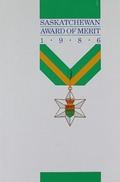 Saskatchewan Award of Merit 1986