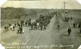 """Prince Albert Sask. Departure of 53 Batt May 19, 1915 from Armory"""