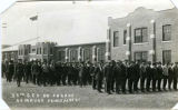 """53rd C.E.F. on Parade Armoury, Prince Albert"""