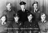 Seven military servicemen in uniform