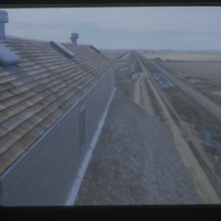 [View from top of newly constructed grain elevator]