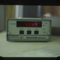 "[""Aurora Scale Digital Indicator"" reading 4.435kg]"