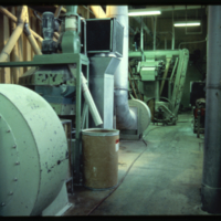 [Ducts and machinery inside a flour mill]