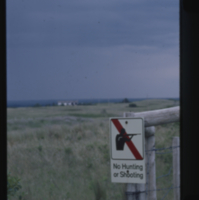 """No Hunting or Shooting"" [sign]"