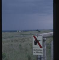 """No Hunting or Shooting"" [sign]"