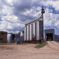 Grain receiving area and day bins, CSP Nipawin