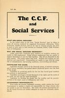 The CCF and the Social Services
