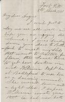 Letter to Angus McKay from William McKay