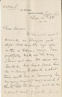 Letter to Angus McKay from Geo. H. Gibson