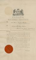 Appointment of Angus McKay as Justice of the Peace for the North-West Territories 1892