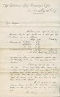 Letter to Angus McKay from Thomas Parkes