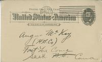 Postcard receipt from the Ingram Brothers