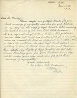 Soldiers' Letters to W. C. Murray : Mr. and Mrs. B.J. Anderson , Nov. 16, 1918