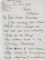 Soldiers' Letters to W. C. Murray : George Coghill , undated