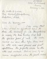 Soldiers' Letters to W. C. Murray : Hedley Dimock, Feb. 7, 1918