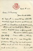 Soldiers' Letters to W. C. Murry : F. G. Frost, Apr. 1, 1919