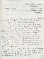 Soldiers' Letters to W. C. Murray : R. Gloag, undated
