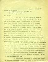 W. C. Murray's letters to soldiers : Charles N. Cameron, Sept. 11, 1915