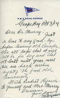 Soldiers' Letters to W. C. Murray  : [Name illegible], Oct. 3, 1914