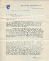 Office of the Food Controller : re: Assembly Planning, Nov. 28, 1917