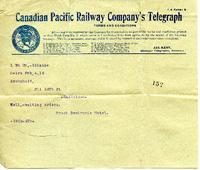 Telegram from Louise Brock, Feb. 4, 1915