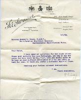 Letter to Nurse Brock from photographer, Jan. 7, 1916