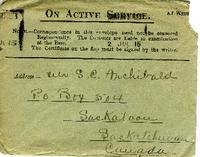 Letter from Nurse Brock to Mr. Archibald, July 1, 1915