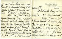 Letter from Nurse Brock to her fiance, Mar. 17, 1915
