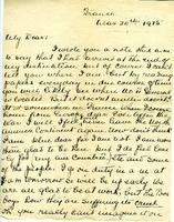 Letter from Nurse Brock to her fiance, Mar. 20, 1915