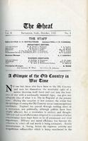 The Sheaf, vol 4 no.1, Oct. 1915