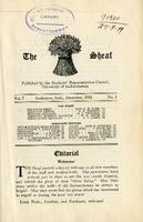 The Sheaf, vol. 7 no.1, Dec. 1918