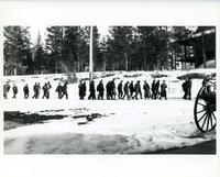 Internees at Banff National Park with guards [ca.1917]