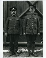 Two cheerful officers at Banff National Park