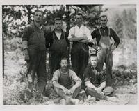 Six Internees at Castle Mountain Camp, Banff, Alberta