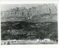 View of internment camp at Castle Mountain, Banff