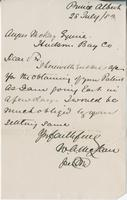 Letter to Angus McKay from W.A. McLean