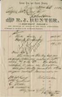 Invoice from R.J. Hunter, Merchant Tailor