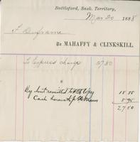 Invoice for F. Duframe from Mahaffy & Clinkskill