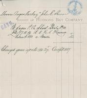 Receipt for land purchase from Hudsons Bay Company by Angus McKay and John E. Stewart