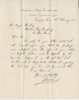 Letter to Angus McKay from J.M. Clark