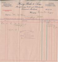 Invoice for Angus McKay from Henry Birks & Sons