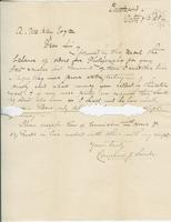 Letter to Angus McKay from Cornelius J. Saule