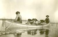 [Four women in a HBC canoe]