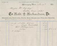 Invoice for Angus McKay from Robt. D. Richardson, Dr.