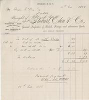 Invoice from Stobart, Eden & Co., General Importers of British, Foreign and American Goods