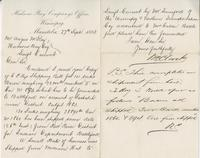 Letter to Angus McKay from Wm Clark