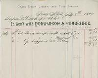 Invoice for Angus McKay from Donaldson & Pembridge