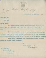 Letter to Angus McKay from The Hudson's Bay Company