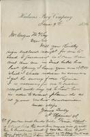 Letter to Angus McKay from J.E. Spence